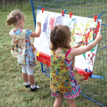 Double Hanging Paint Easel  large