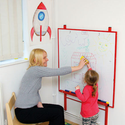 Height Adjustable Wall Mounted Whiteboard  large