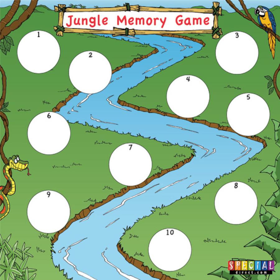 Worksheets Auditory Comprehension Worksheets buy jungle walk auditory memory game tts game