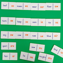 Vowel Phoneme Dominoes  medium