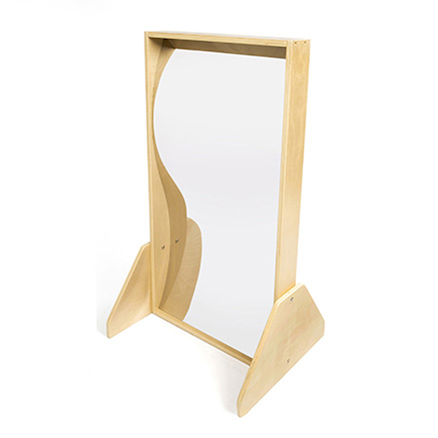 Wooden Framed Freestanding Carnival Mirrors  large