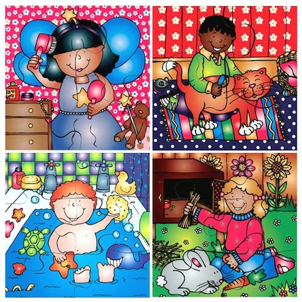 Wooden Looking After Ourselves Jigsaw Puzzle 8pk  large