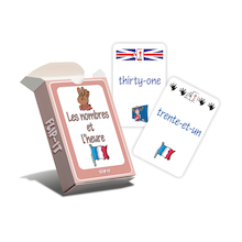 Flip-It Numbers and Time French Cards  medium