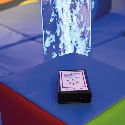 Interactive Bubble Tube with Colour Changing Cube  large