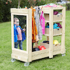 Wooden Outdoor Role Play Dress Up Unit  small