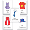 Clothes French Vocabulary Flashcards A4 16pk  small