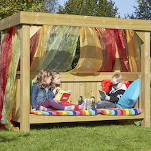 Outdoor Wooden Reading Super Seat  medium