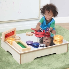 Toddler Wooden Mirror Table   medium