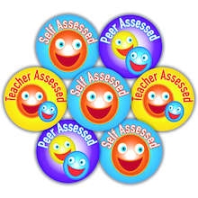Self/Peer/Teacher Assessed Stickers 125pk  medium