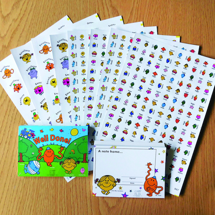 Mr Men Reward Stickers and Certificates  large