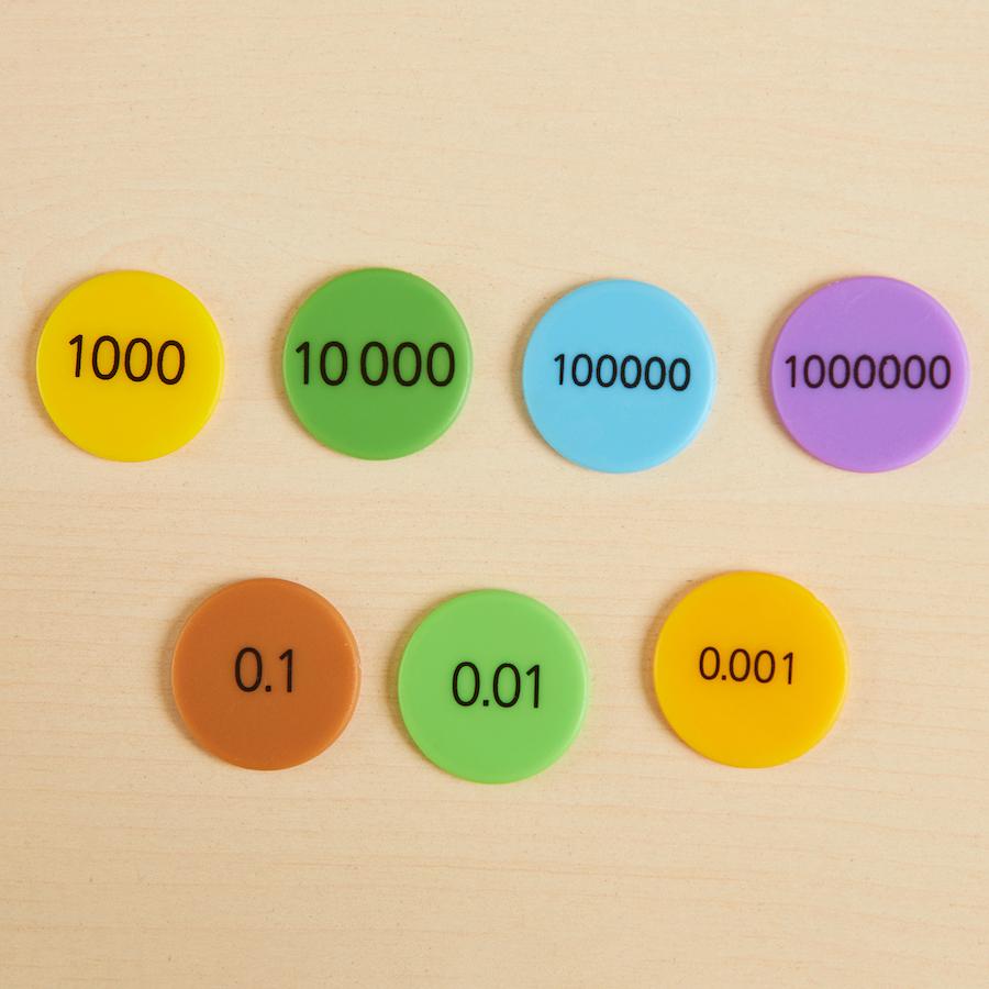 Buy Singapore Colours Place Value Counters Tts