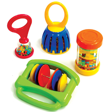 6m+ Baby Music Rattles and Shakers 4pk  medium