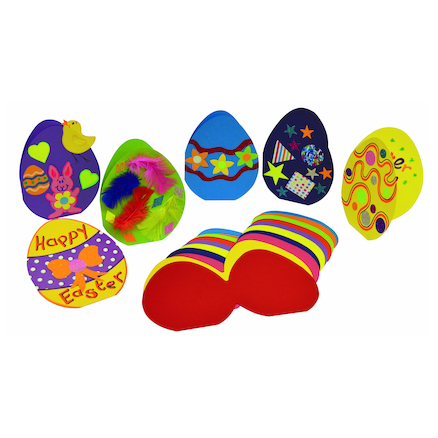 Precut Ready to Decorate Easter Egg Cards 30pk  large