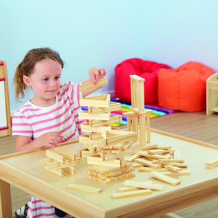 Lightweight Small Wooden Play Planks 200pcs  large