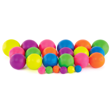 Neon Coated Foam Balls  large