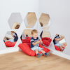 Hexagonal Mirrors Diameter 50cm 7pk  small