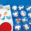 Assorted Dinosaur Stampers D7.5cm 14pk  small