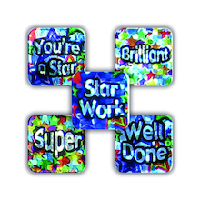 Sparkly Mini Square Reward Stickers 650pk  medium