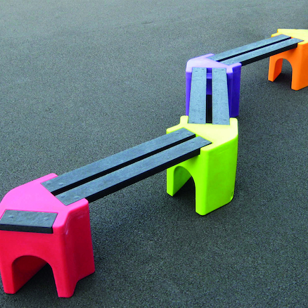 Recyclable Plastic Zigzag Bench  large