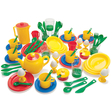 Plastic Role Play Kitchen Set 78pcs  medium