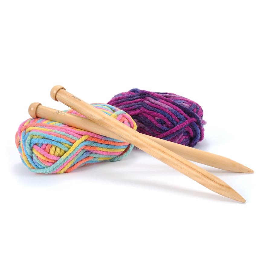 Huge Knitting Needles Uk : Buy giant bamboo knitting needles tts