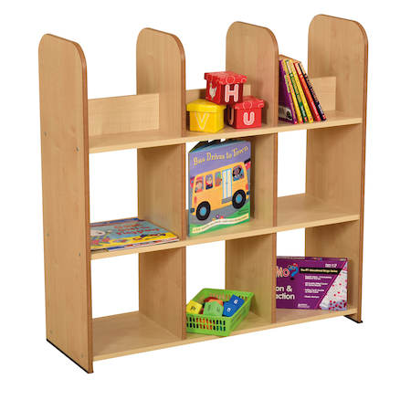 Maple Open Back Bookcases  large
