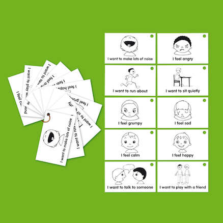Feelings and Emotions Communication Cards and Keyrings  large