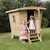 Outdoor Wooden Rustic Caravan  small