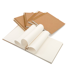 200mm Square Kraft Spiral Sketchbook 140gsm  medium