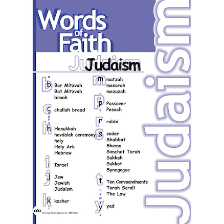 Religions Vocabulary Poster Set A2 7pk  large