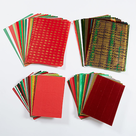 Bumper Festive Craft Papers Assorted 430pk  large