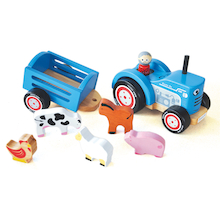 Toddler Wooden Small World Tractor Set  medium