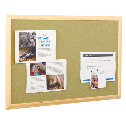 ColourTex Textile Noticeboard Wooden Frame  large