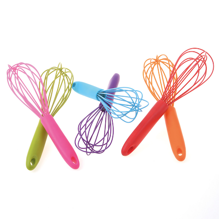 Assorted Coloured Whisks 6pk  large