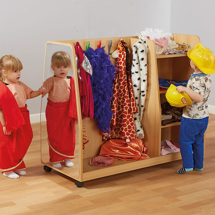 Toddler Wooden Role Play Dress Up Trolley  large