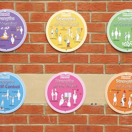 Circle Character Strengths Playground Signs 6pk  large