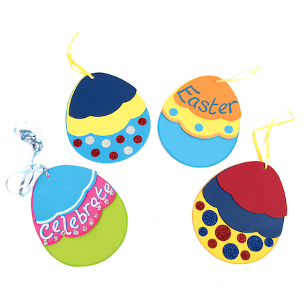 Triple Egg Easter Decorations  large