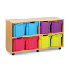 Mobile Tray Storage Unit With 8 Jumbo Trays  small