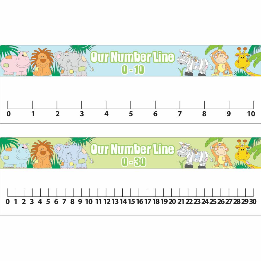 worksheet Number Line buy jungle number line playground signs tts signs