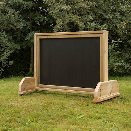 Outdoor Wheelie Wooden Chalkboard  large
