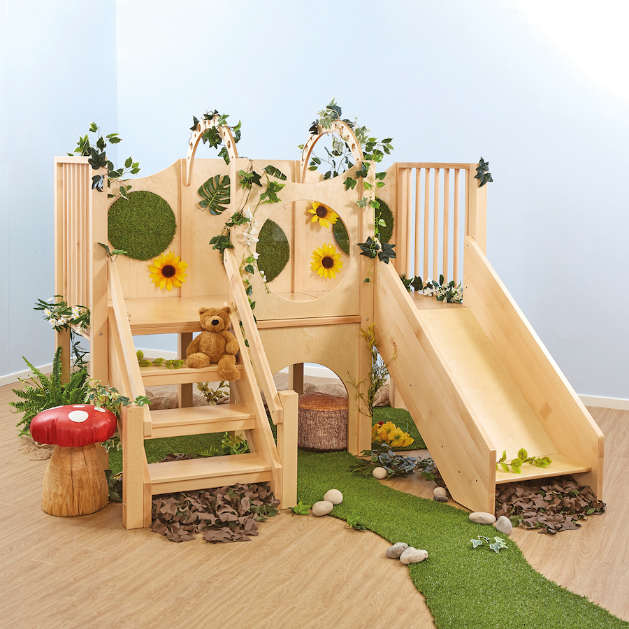 Buy Indoor Wooden Climb And Slide Unit Tts