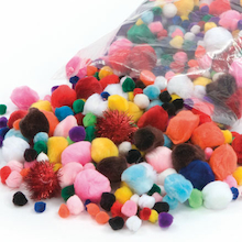 Assorted Pom Pom Bumper Pack 450g  medium