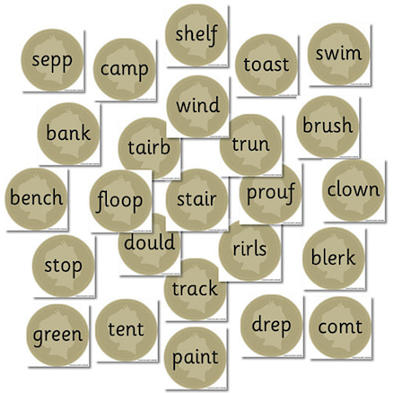 Phase 2 Buried Treasure Decoding Word Cards 25pk  large