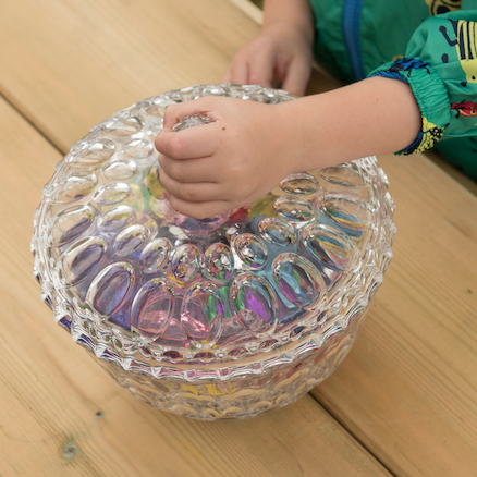 Sparkly Treasure Dish with Lid  large