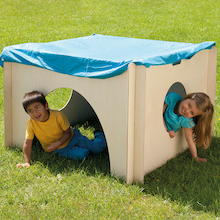 Indoor and Outdoor Wooden Cosy Play House Den  medium