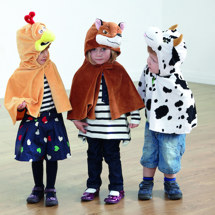 Role Play Dressing Up Animal Capes 4pk  large