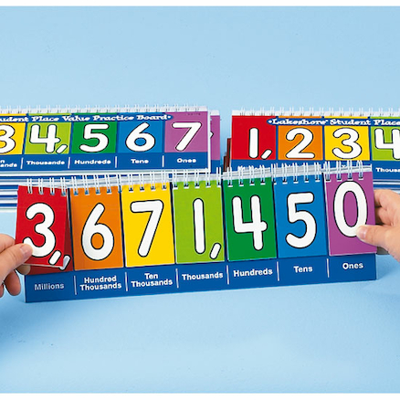 Millions Desktop Place Value Boards  large