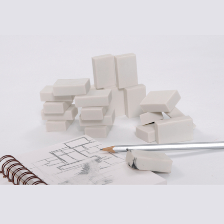 White Erasers 20pk  large