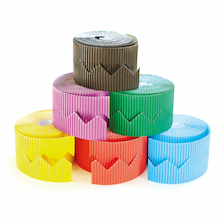 Zig Zag Bordette Display Roll Assorted 6pk  medium