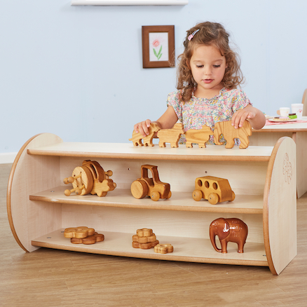 Toddler Mini Two Shelf Unit  large
